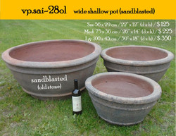 vp.sai-28ol    wide shallow pot