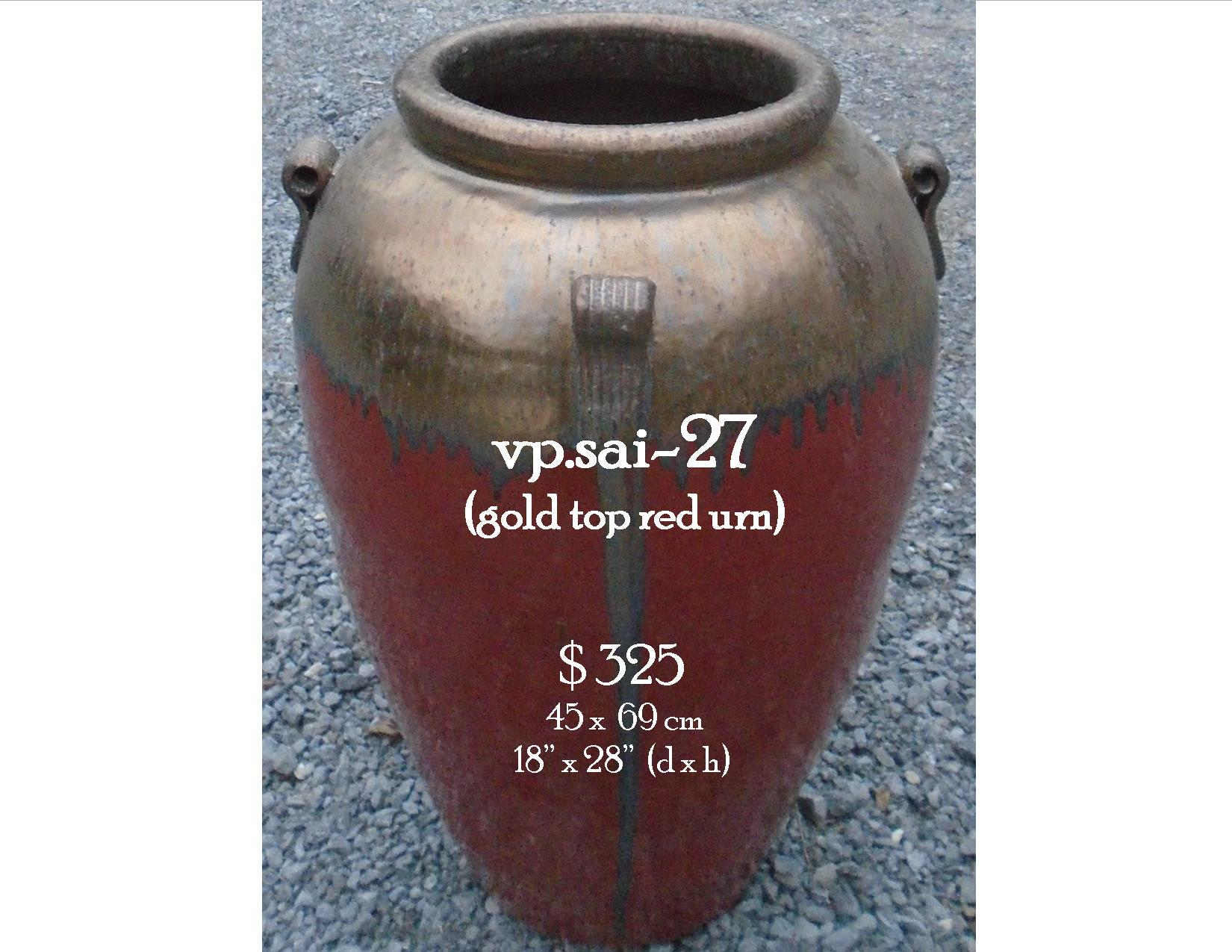 vp.sai-27  gold top red urn