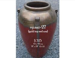 vp.sai-27  gold top red urn