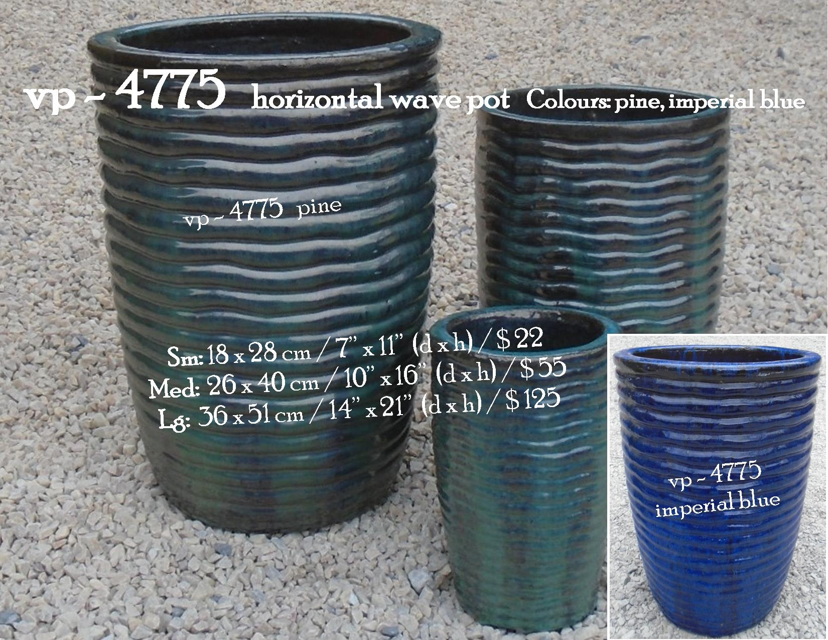 vp - 4775   horizontal wave pot