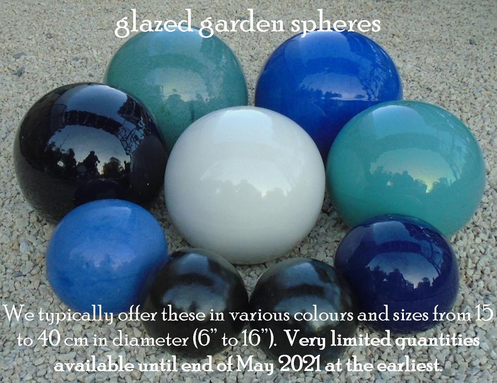 glazed garden spheres