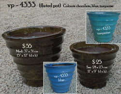 vp - 4333   fluted tapered pot
