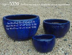 vp - 5339  shallow zig zag pot
