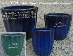 vp - 5314  fluted tulip pot
