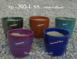 vp - 393-1    $ 8      window sill pot