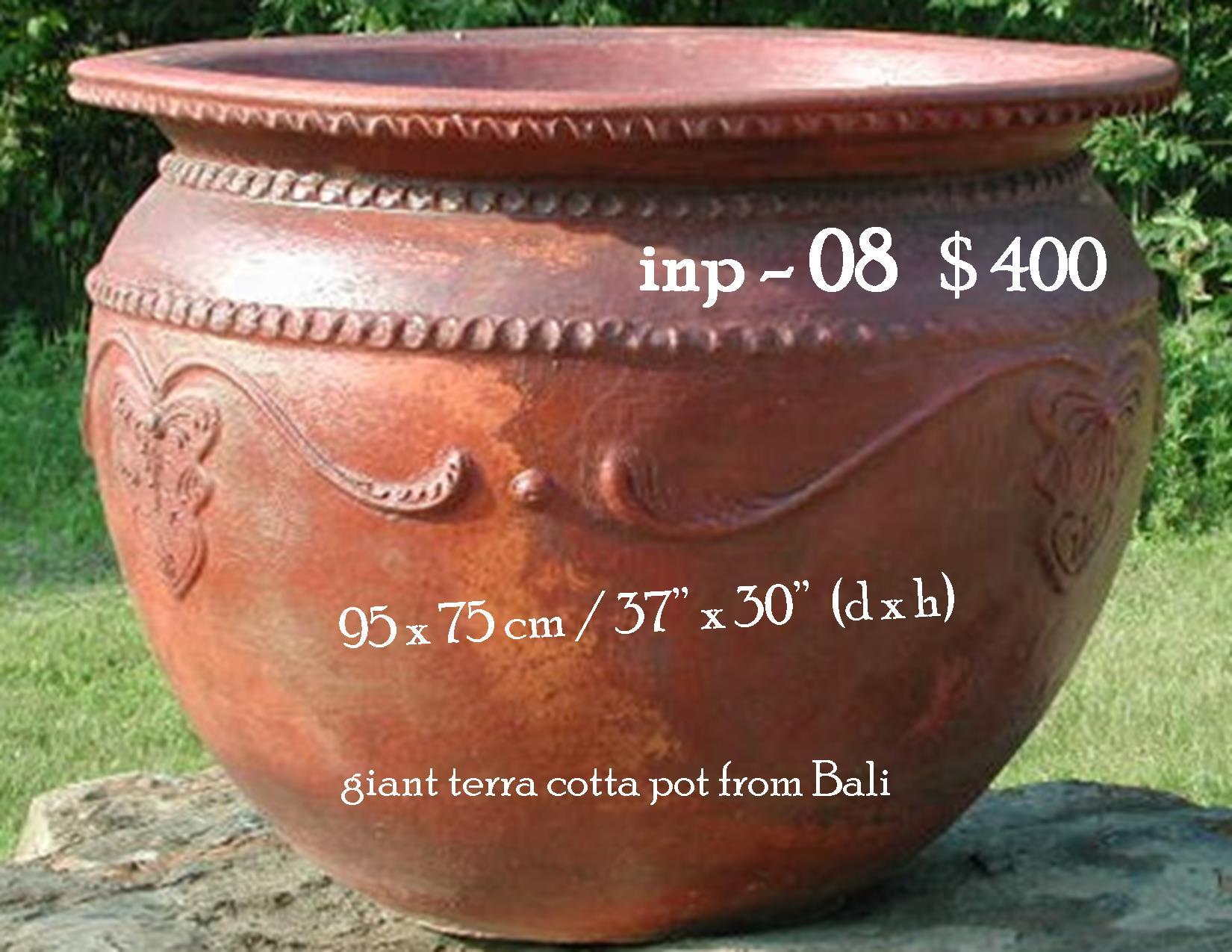 inp-08 giant terra cotta pot from Bali
