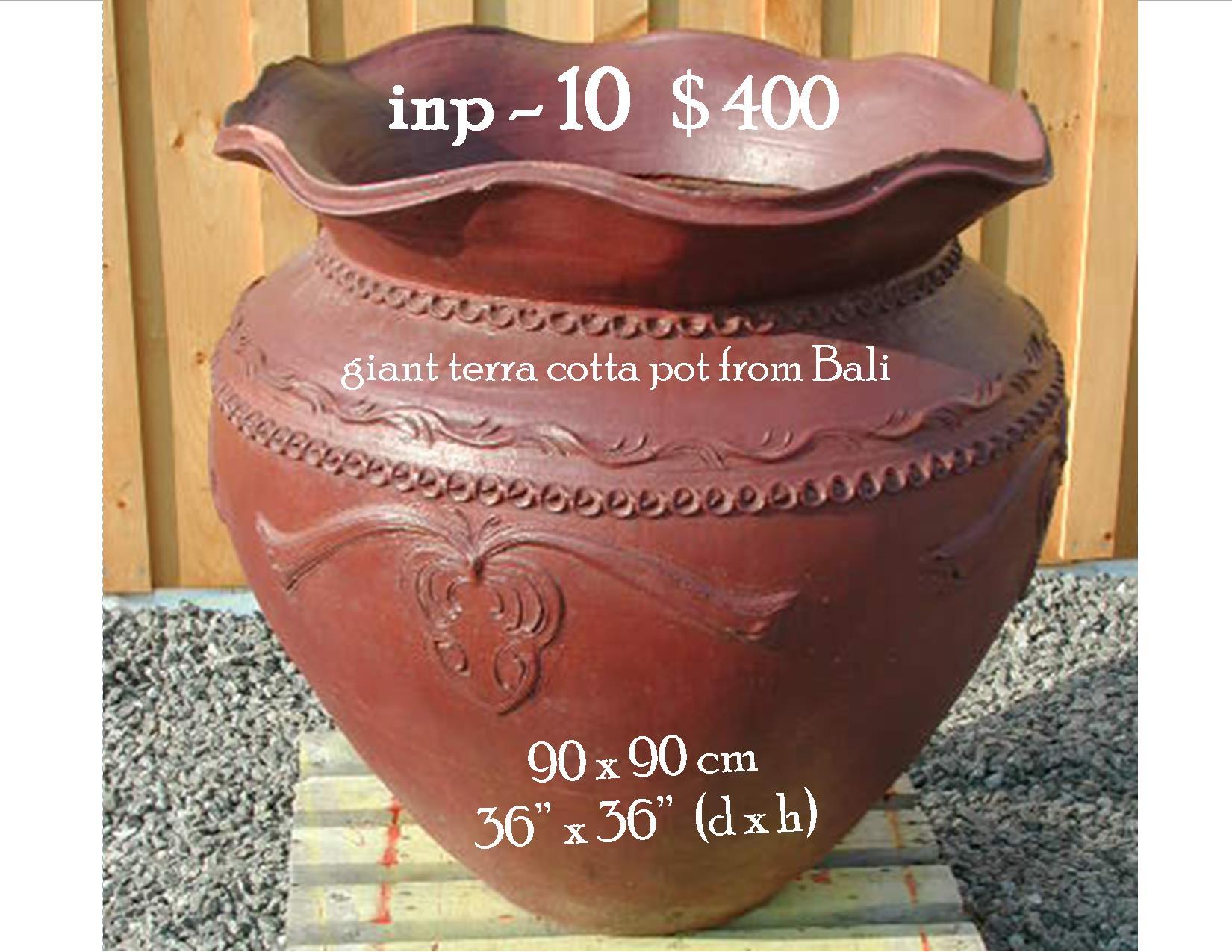 inp-10 giant terra cotta pot from Bali