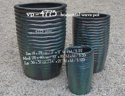 vp - 4775   horizontal wave pot