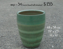 mp - 34 (wave band tall planter)