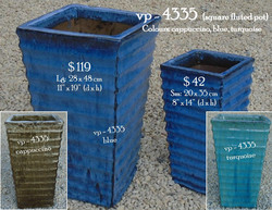 vp - 4335  square fluted pot