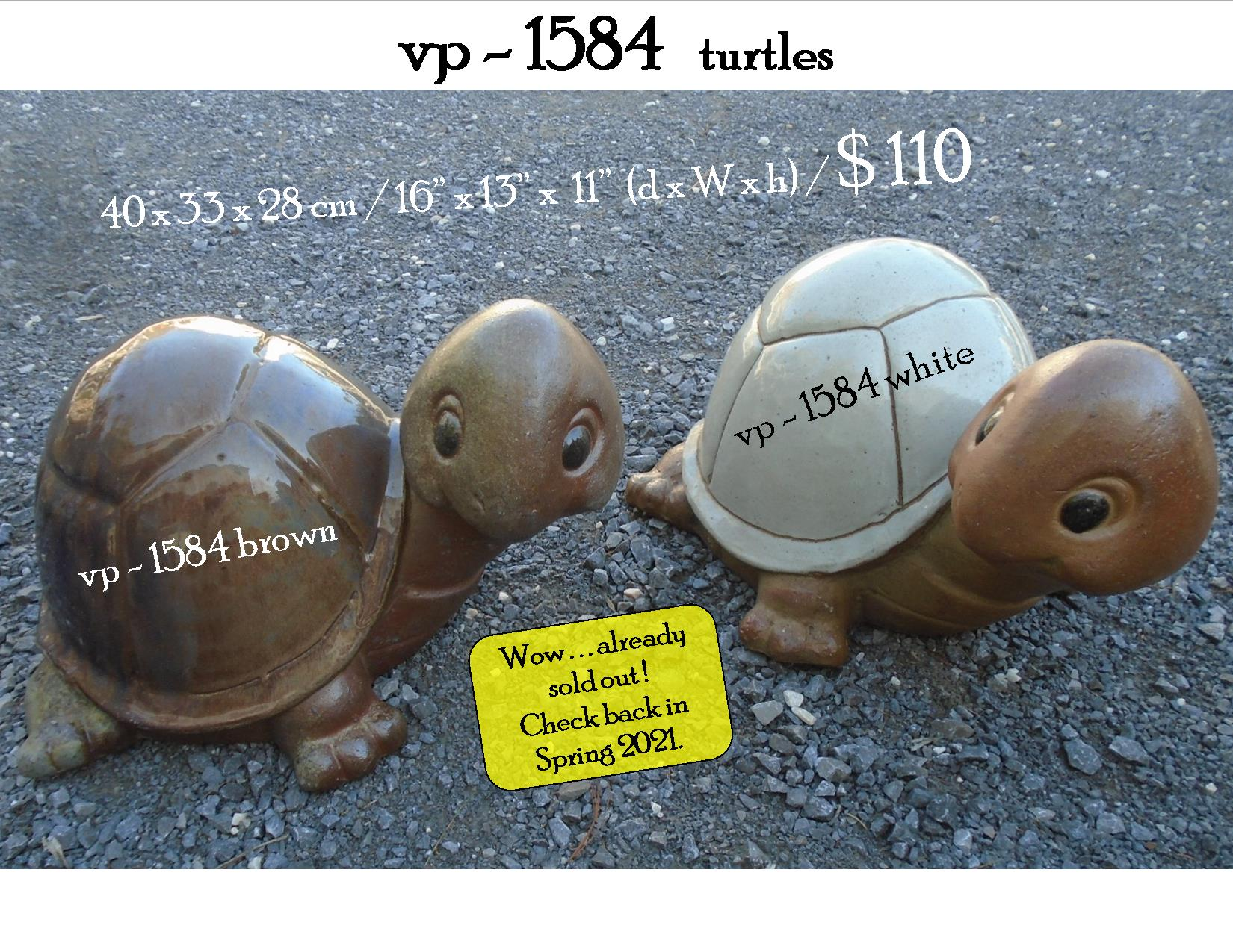 vp - 1584   turtles, sold out