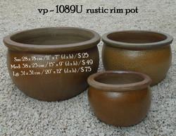vp - 1089U  rustic rim pot