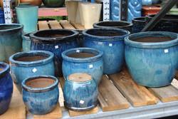 plain round turquoise sets
