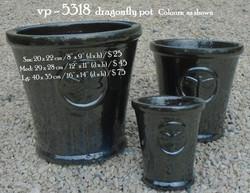 vp - 5318  dragonfly pot