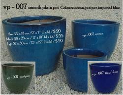vp - 007 smooth plain pot