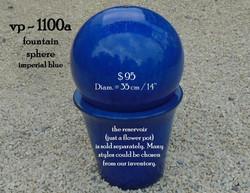 vp - 1100a  blue fountain sphere