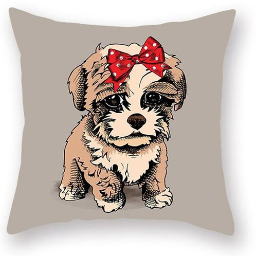 Pretty Puppy Pillow Case