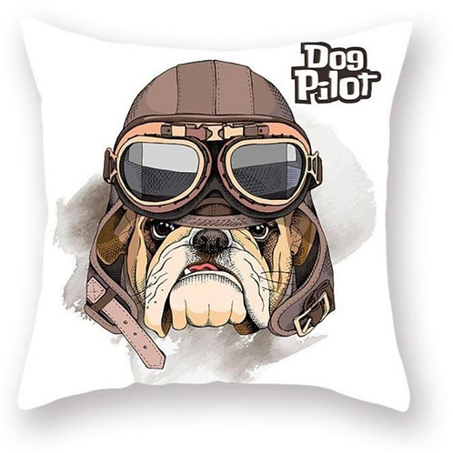 Dog Pilot Pillow Case