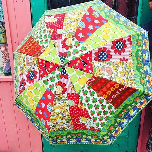 ぞろぞろアヒルの折畳み雨傘