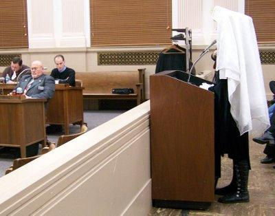 Sister Truly Fierce speaking to the Council