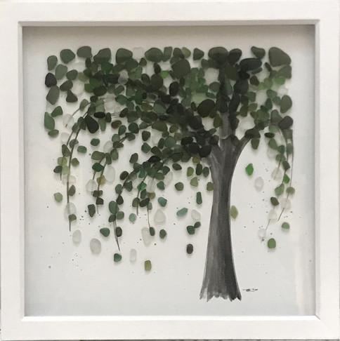 sea glass willow tree art