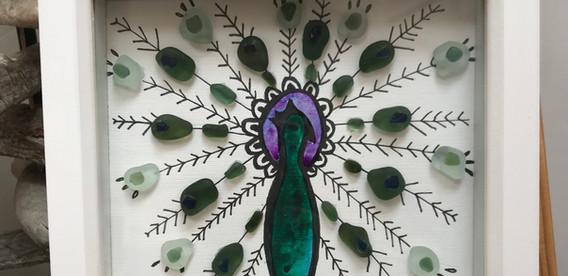 sea glass peacock