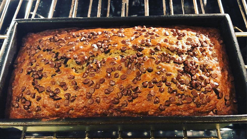 Gluten-free chocolate chip banana bread ( per slice)