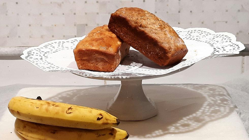 Mini banana bread loaf (regular or chocolate)