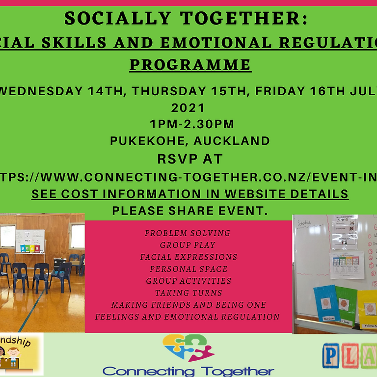 Socially Together Programme April 2021 (Cost involved, deposit required)