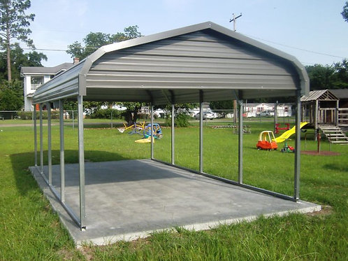 12'x21' Double Gable Traditional Carport