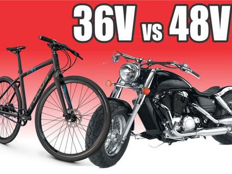 36V vs 48V e-bike Motors