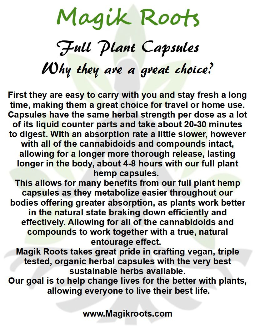 Article on Full Plant Capsules