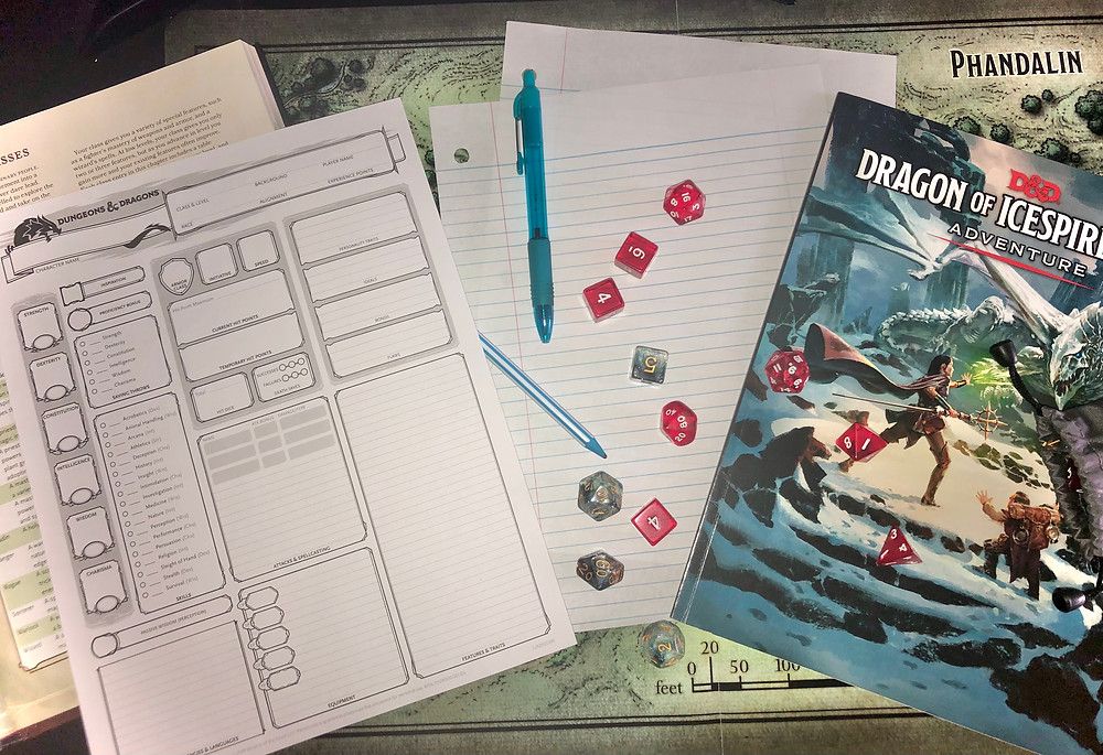 A display of the Dungeons and Dragons game