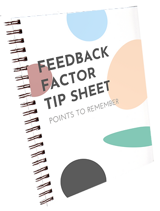 feedback factor tip sheet cover graphic.