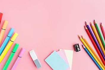 school-supplies-stationery-pink-backgrou