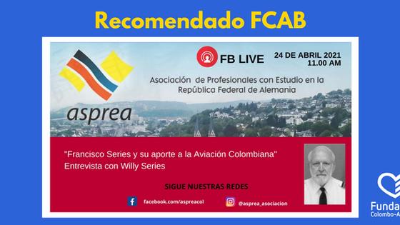 """Invitación entrevista con Willy Series """"Aportes a la aviación colombiana"""""""
