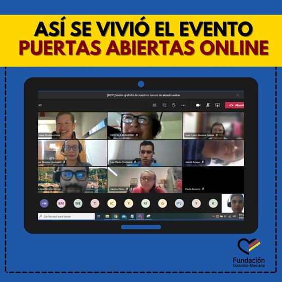 """""""Se realizó con éxito el evento Puertas Abiertas Online"""""""
