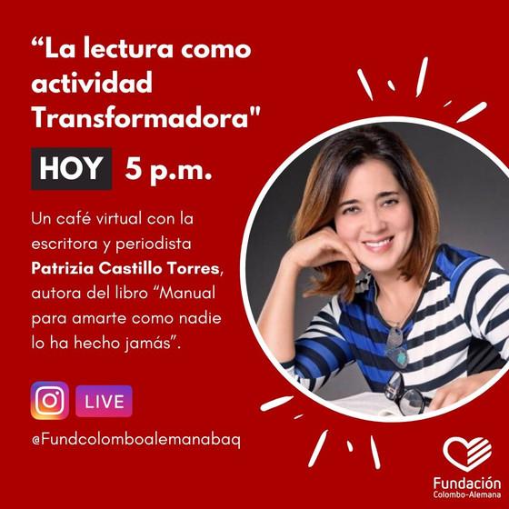 Un café virtual con la escritora Patrizia Castillo Torres