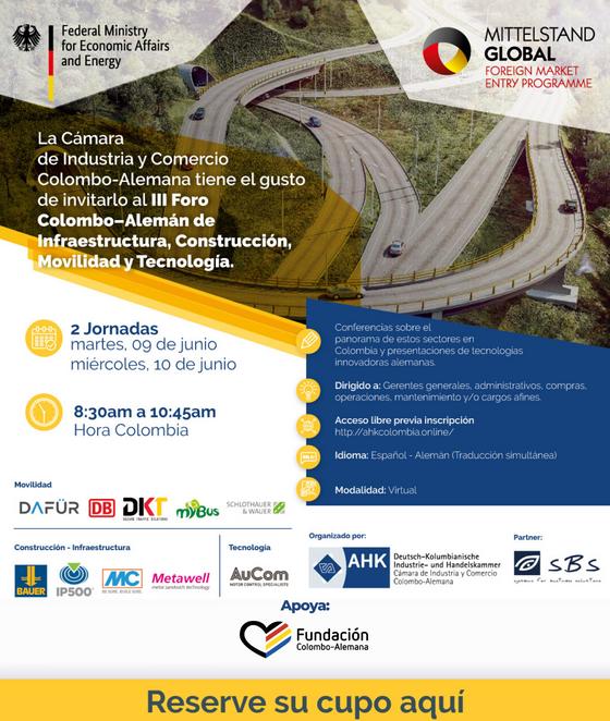 III. Foro Colombo-Alemán de Infraestructura, Construcción, Movilidad y Tecnología