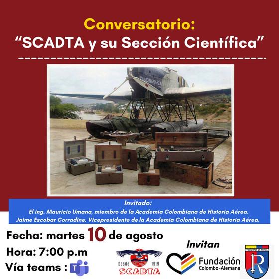 """Conversatorio:  """"SCADTA y su Sección Científica"""""""