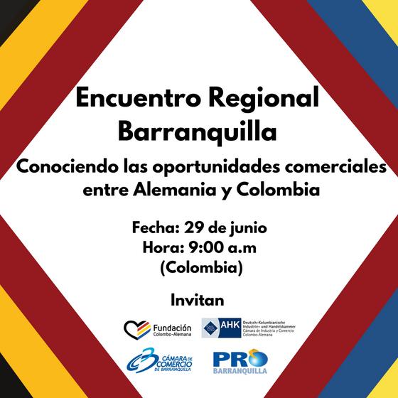 Encuentro Regional: Conociendo sobre las oportunidades comerciales entre Alemania y Colombia 2021