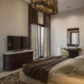 Спальня в коричневых тонах, земляные тона
