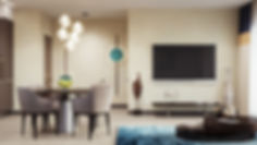 Кухня-гостиная в Харькове, гостиная в жилом доме, визуализация интерьера гостиной и кухни