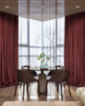 стол со стульями, столовый гарнитур, эркер в квартире