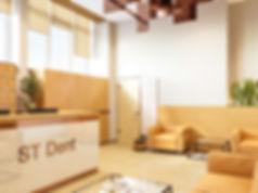 Теплый вестибюль, общественное помещение, 3d визуализация приемной