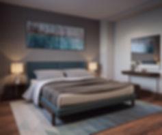 3d визуализация спальни, спальня хозяев, виз интерьера спальни