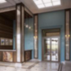 Классический интерьер, визуализация интерьера в классике, 3d изображение вестибюля