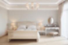Перспективное изображение спальни, решение интерьреа спальния, визуализация спальни в стиле прованс