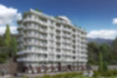 3d визуализация экстерьера, жилой комплекс с апартаментами
