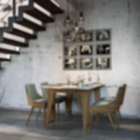 Визуализация столовой, уютная столовая, 3d визуализация проекта